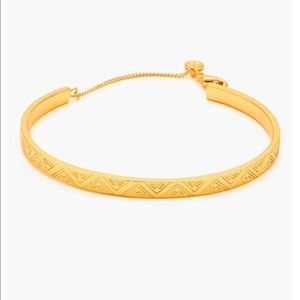 Brand New Gorjana Gold Kate Zig Zag Etched Cuff
